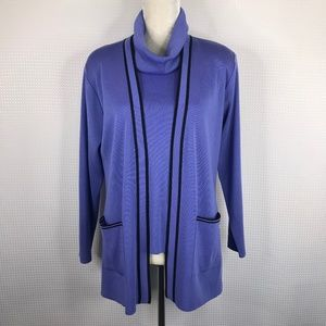 Exclusively MISOOK 2PC Petite Med PM Tank Cardigan